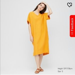 Uniqlo linen blended cocoon dress